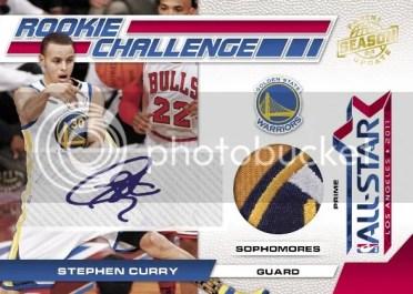 2010-11 Panini Season Update RC Challenge Stephen Curry Autograph Jersey Card