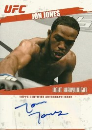 2009 Topps UFC Jon Jones Autograph Fight Rookie Card