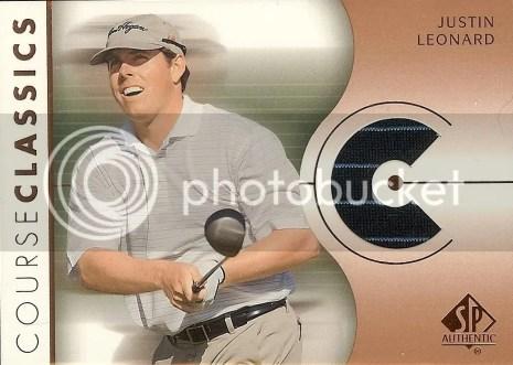 2003 Upper Deck SP Authentic Golf Shirt Justin Leonard Card