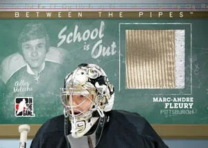 2010/11 ITG Between the Pipes School Is Out Marc-Andre Fleury Gilies Meloche Jersey Card