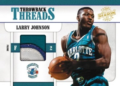 2010/11 Panini Update Throwback Threads Larry Johnson Jersey Card