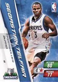 2010-11 NBA Adrenalyn Series 2 Sebastian Telfair