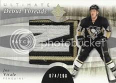 11-12 Joe Vitale Ultiamte collection debut patch card