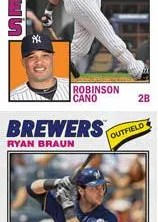 2012 Topps Archives Ryan Braun 1977 Cloth Card