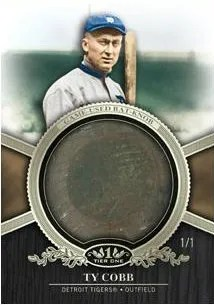 2012 Topps Tier One Bat Knob Ty Cobb