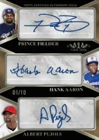 2012 Topps Tier One Triple Autograph