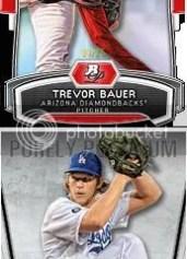 2012 Bowman Platinum Trevor Bauer Top Prospect