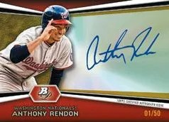 2012 Bowman Platinum Anthony Rendon Autograph Gold /50