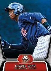 2012 Bowman Platinum Miguel Sano Base Card