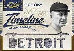 2011 Playoff Prime Cuts Timeline Ty Cobb