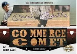 2012 Topps Triple Threads Mickey Mantle Cut Signature
