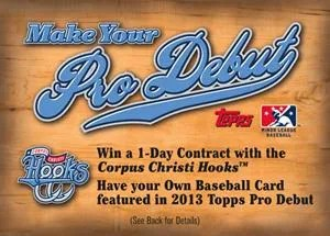 2012 Topps Heritage Make Your Pro Debut