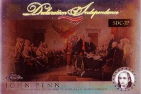 2006 Topps Chrome Declaration of Independence John Penn