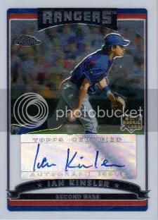 2006 Topps Chrome Ian Kinsler Autograph RC Card #340