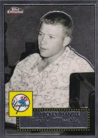 2007 Topps Chrome Mickey Mantle Story Insert Card