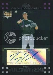 2007 Topps Chrome Troy Tulowitzki Autograph RC Card
