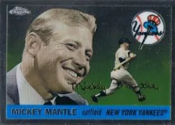 2008 Topps Chrome Mickey Mantle History Insert Card