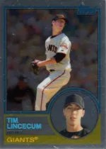 2008 Topps Chrome Tim Lincecum Trading Card History Insert Card