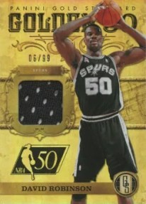2011-12 Panini Gold Standard Golden 50 David Robinson Jersey Card