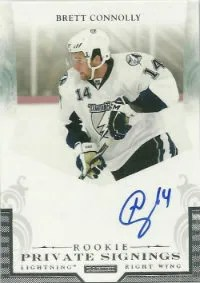 2011-12 Panini Rookie Anthology Brett Connolly Private Signings Autoraph Card