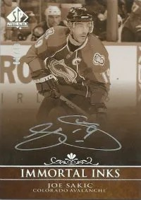 2011-12 Upper Deck SP Authentic Immortal Inks #INK-JS Joe Sakic