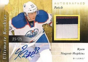 2011-12 Upper Deck Ultimate Collection Ryan Nugent Hopkins Auto Patch RC