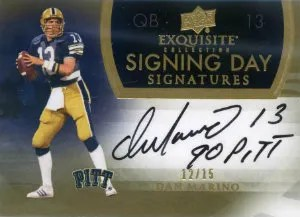2011 Upper Deck Exquisite Dan Marino Signing Day Autograph