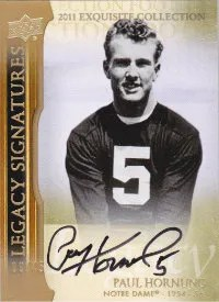 2011 Upper Deck Exquisite Legacy Signatures #L-PH Paul Hornung