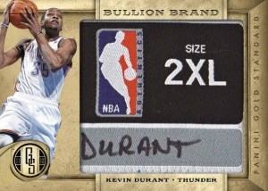 2011/12 Panini Gold Standard Kevin Durant Bullion Brand Jersey Tag Card