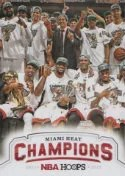 2012-13 NBA Hoops Miami Heat Champions Card