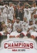 2012-13 NBA Hoops Miami Heat Champions Card