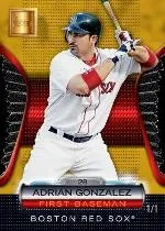 2012 Topps Golden Giveaway Adrian Gonzalez Golden Moments 1/1