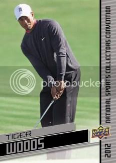 2012 Upper Deck National Wrapper Redemption Tiger Woods Card
