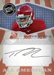 2012 Press Pass Trent Richardson All-American Autograph
