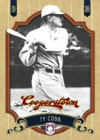 2012 Panini Cooperstown Ty Cobb Base Card