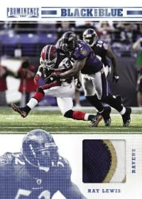 2012 Panini Prominence Black and Blue Ray Lewis Prime Jersey Card