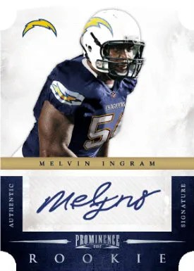 2012 Panini Prominence Rookie Signatures Melvin Ingram Autograph RC Card