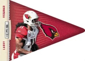 2012 Panini Rookie and Stars Larry Fitzgerald Pennant Insert Card