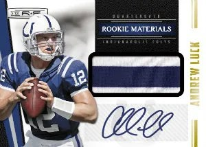 2012 Panini Rookies and Stars Andrew Luck Jersey Material Autograph RC Card