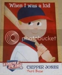 2012 Panini Triple Play Chipper Jones When I Was A Kid