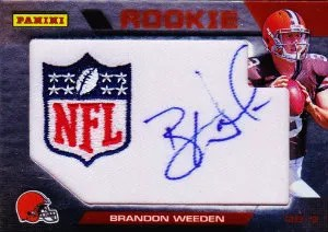 2012 Panini Wrapper Redemption Brandon Weeden Autograph Card