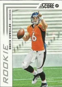 2012 Score Brock Osweiler SP Photo Variation RC