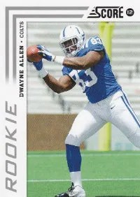 2012 Score Dwayne Allen SP Photo Variation RC