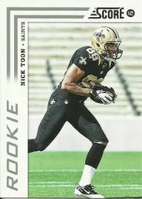 2012 Score Football Nick Toon Rookie #362