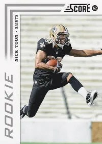 2012 Score Football Nick Toon SP Photo Variation RC