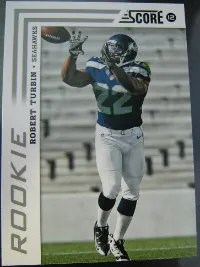 2012 Score Football Robert Turbin SP Variation RC Card