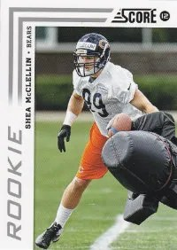 2012 Score Football Shea McClellin Photo Variation RC Card