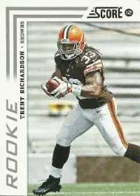 2012 Score Football Trent Richardson RC #381