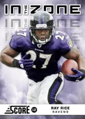 2012 Score Football In The Zone Ray Rice Insert Card