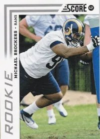 2012 Score Michael Brockers SP Photo Variation RC